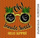 the image of pineapple fruit in ...   Shutterstock .eps vector #413820166