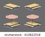 Cafe Table With Sun Umbrella....