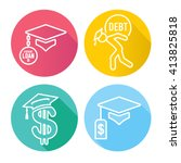2016 graduate student loan... | Shutterstock .eps vector #413825818