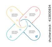 outline circular infographic.... | Shutterstock .eps vector #413830834