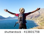 rear view portrait of young man ...   Shutterstock . vector #413831758