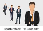 businessman set. handsome... | Shutterstock .eps vector #413835589