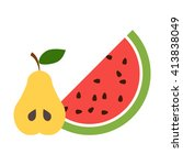 fruits icon.  | Shutterstock .eps vector #413838049