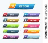 multicolored glossy button set