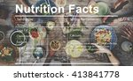 nutrition facts medical diet... | Shutterstock . vector #413841778