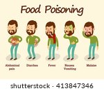 man having a stomachache   food ... | Shutterstock .eps vector #413847346