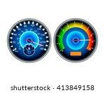 speedometer isolated vector... | Shutterstock .eps vector #413849158