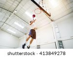 basketball bounce competition... | Shutterstock . vector #413849278