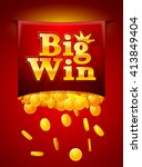 big win poster with falling... | Shutterstock .eps vector #413849404