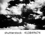 Black And White Clouds Texture...