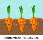 carrot grown underground.... | Shutterstock .eps vector #413852728