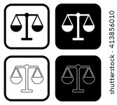 balance outline icon . vector...