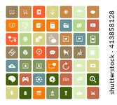 set of 49 universal icons.... | Shutterstock . vector #413858128