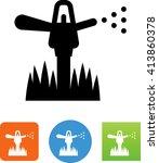 water sprinkler symbol for... | Shutterstock .eps vector #413860378