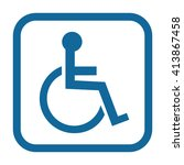 disabled handicap icon .... | Shutterstock .eps vector #413867458