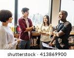 classmate classroom sharing... | Shutterstock . vector #413869900