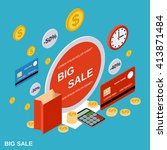 sale  trading  promotion ... | Shutterstock .eps vector #413871484