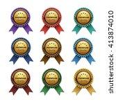 vector set of top quality... | Shutterstock .eps vector #413874010
