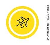 plane icon vector | Shutterstock .eps vector #413874586