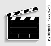 film clap board cinema sign | Shutterstock .eps vector #413876044