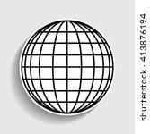 earth globe sign | Shutterstock .eps vector #413876194