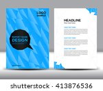 blue cover design  annual... | Shutterstock .eps vector #413876536
