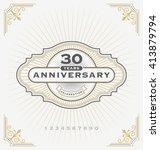 vintage anniversary celebration ... | Shutterstock .eps vector #413879794