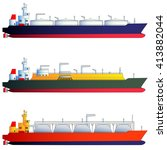 oil tanker and gas tankers  lng ... | Shutterstock .eps vector #413882044