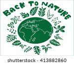 leaf icons logo and design...   Shutterstock .eps vector #413882860