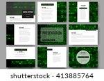 set of 9 vector templates for... | Shutterstock .eps vector #413885764