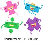 mascot illustration of... | Shutterstock .eps vector #413888404
