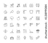 Thin Line Icons Set. Flat...