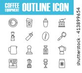 set of outline coffee icon ...   Shutterstock .eps vector #413899654