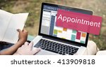 appointment appointing... | Shutterstock . vector #413909818