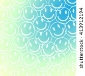 smile face pattern with pastel... | Shutterstock .eps vector #413912194