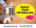 boost your metabolism business... | Shutterstock . vector #413919010
