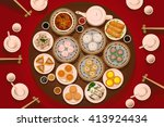 a vector illustration of dimsum ... | Shutterstock .eps vector #413924434