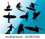 surfing vector. | Shutterstock .eps vector #41392744