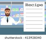 pharmacist standing near... | Shutterstock .eps vector #413928340