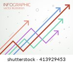 growth charts  vector | Shutterstock .eps vector #413929453