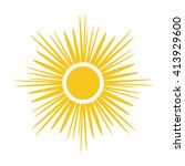 sun icon. light sign with... | Shutterstock .eps vector #413929600