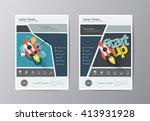 annual report leaflet brochure... | Shutterstock .eps vector #413931928