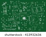 business doodle stuff vector... | Shutterstock .eps vector #413932636