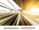 motion of a japanese mono rail | Shutterstock . vector #413935219