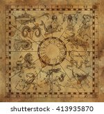 Collage With Zodiac Symbols An...