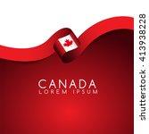 canada flag ribbon   vector... | Shutterstock .eps vector #413938228