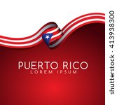 Puerto Rico Flag Ribbon  ...