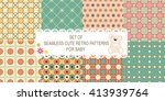 set of 8 retro different vector ... | Shutterstock .eps vector #413939764