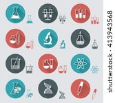 laboratory icons | Shutterstock .eps vector #413943568