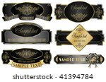 vector set  gold framed labels... | Shutterstock .eps vector #41394784